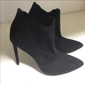 Black Zara ankle booties